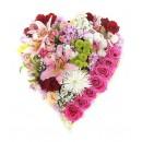 Сердца из цветов. Композиции и букеты в виде сердца