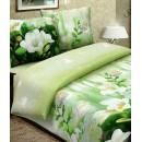 Комплект постельного белья  с оформлением цветами. Купить постельное белье 3D.
