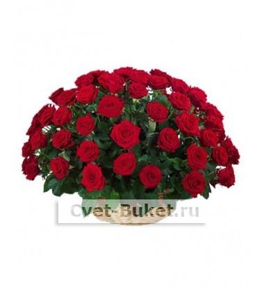 "Корзина - ""51 красная роза"""