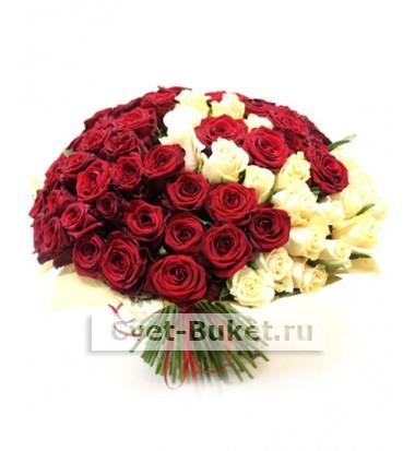 "Букет - ""Спираль 101 роза"""