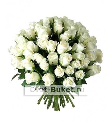 Букет - 51 белая роза