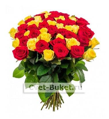 """Букет - 51 роза """"Микс-2Ц"""""""