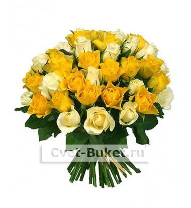 """Букет - 51 роза """"Микс-3Ц"""""""