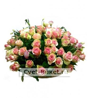 "Корзина - ""101 роза Белла Роса """