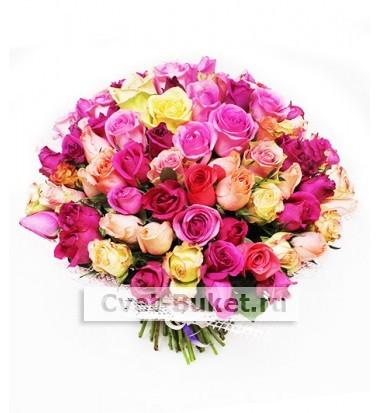 Букет из 101 розы - Микс-7Ц