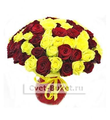 Букет из 101 розы - Микс-8Ц