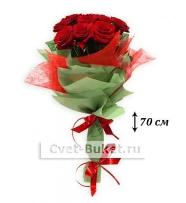Букет - Высокие розы 70 см