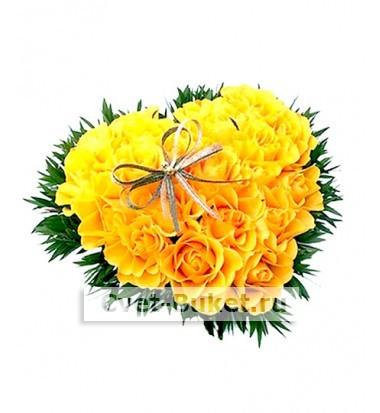 Цветы в виде игрушек - Сердце-2