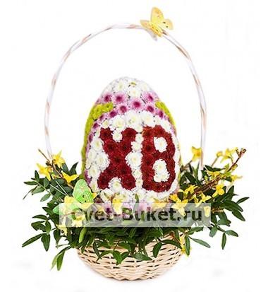 Цветы в виде игрушек - Пасхальное яйцо