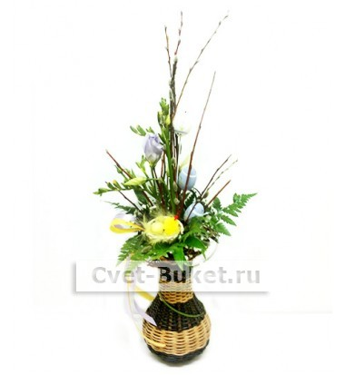 Композиции из цветов - Пасхальная