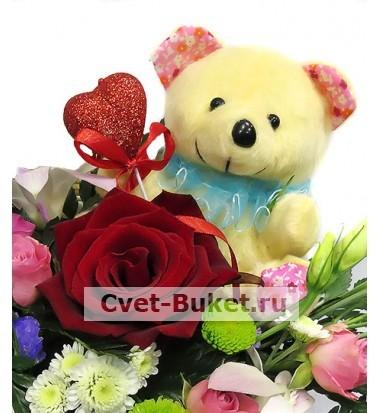 Композиции из цветов - Композиция с любовью