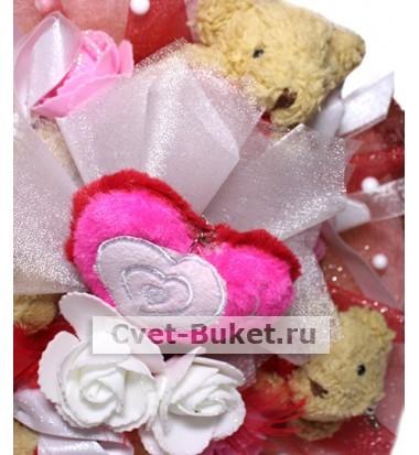 Букет - Мишки LOVE