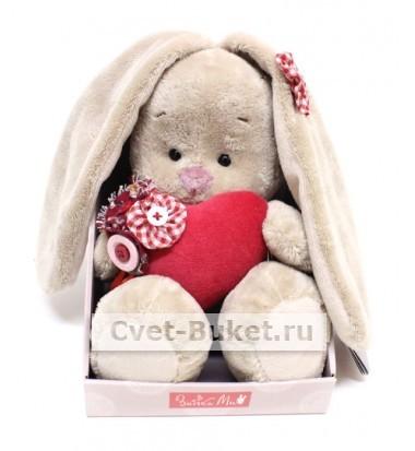 Мягкая игрушка - Зайка Ми с сердцем малый