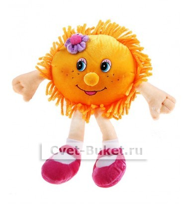 Мягкая игрушка - Солнышко с цветочком