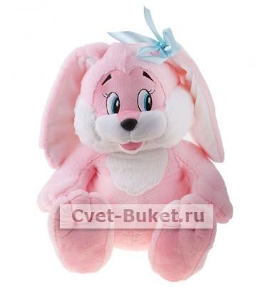 Мягкая игрушка - Зайчик розовый