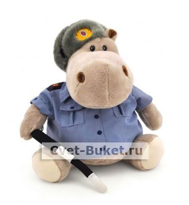 Мягкая игрушка - Бегемот Полицейский