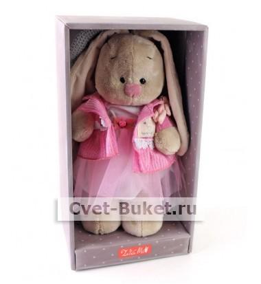 Мягкая игрушка - Зайка Ми Розовый бутон