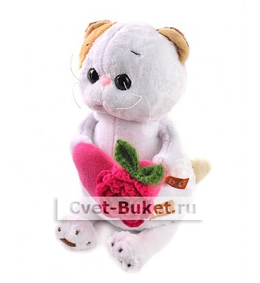 Мягкая игрушка - Кошка Ли-Ли с розовым сердечком
