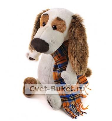 Мягкая игрушка - Бартоломей в шарфе