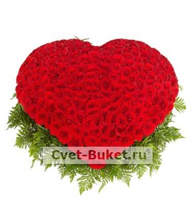 Сердце - Сердце 301 роза