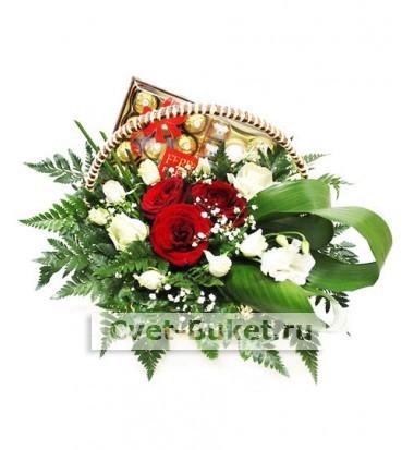 """Корзина цветов """"Ферреро"""""""