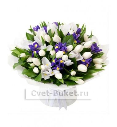 Букет из тюльпанов Облака