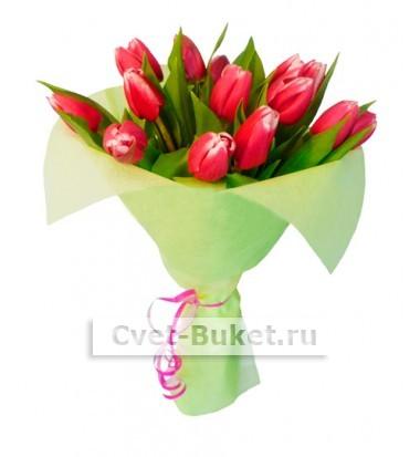 15 Тюльпанов розовые