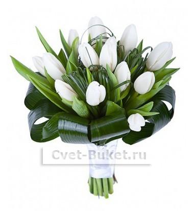 15 Тюльпанов белые